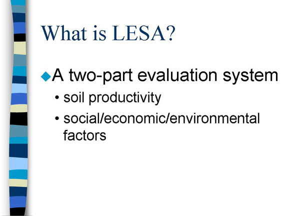 Slide 2 - What is LESA?