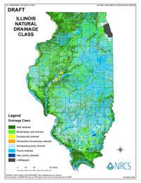 Revised Natural Drainage Class map of Illinois