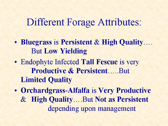 Slide 2 - Different Forage Attributes