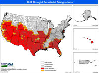 USDA Drought map 2012