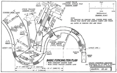 Diagram of Basic Forcing Pen Plan
