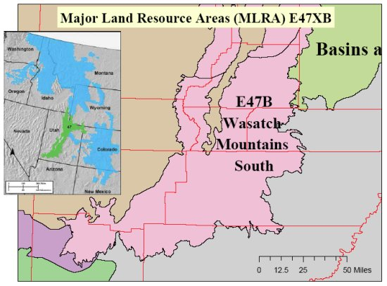 MLRA 47XB - Wasatch Mountains South | NRCS Utah