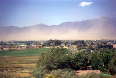 Dust Storm in the Salt Lake Valley at 90th South, looking west.