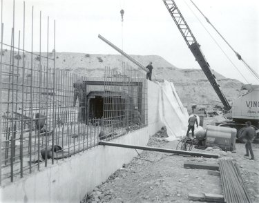Construction of Millsite Dam