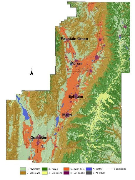 Sanpete County Utah Map.Sanpete County Resource Assessment Nrcs Utah