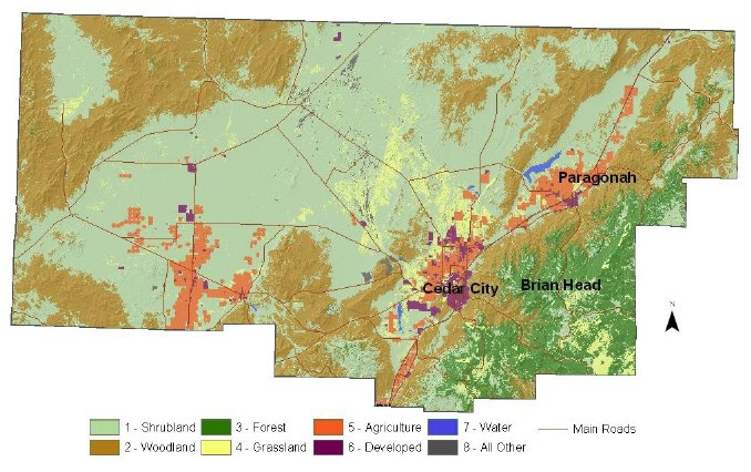 County Utah Map.Iron County Resource Assessment Nrcs Utah