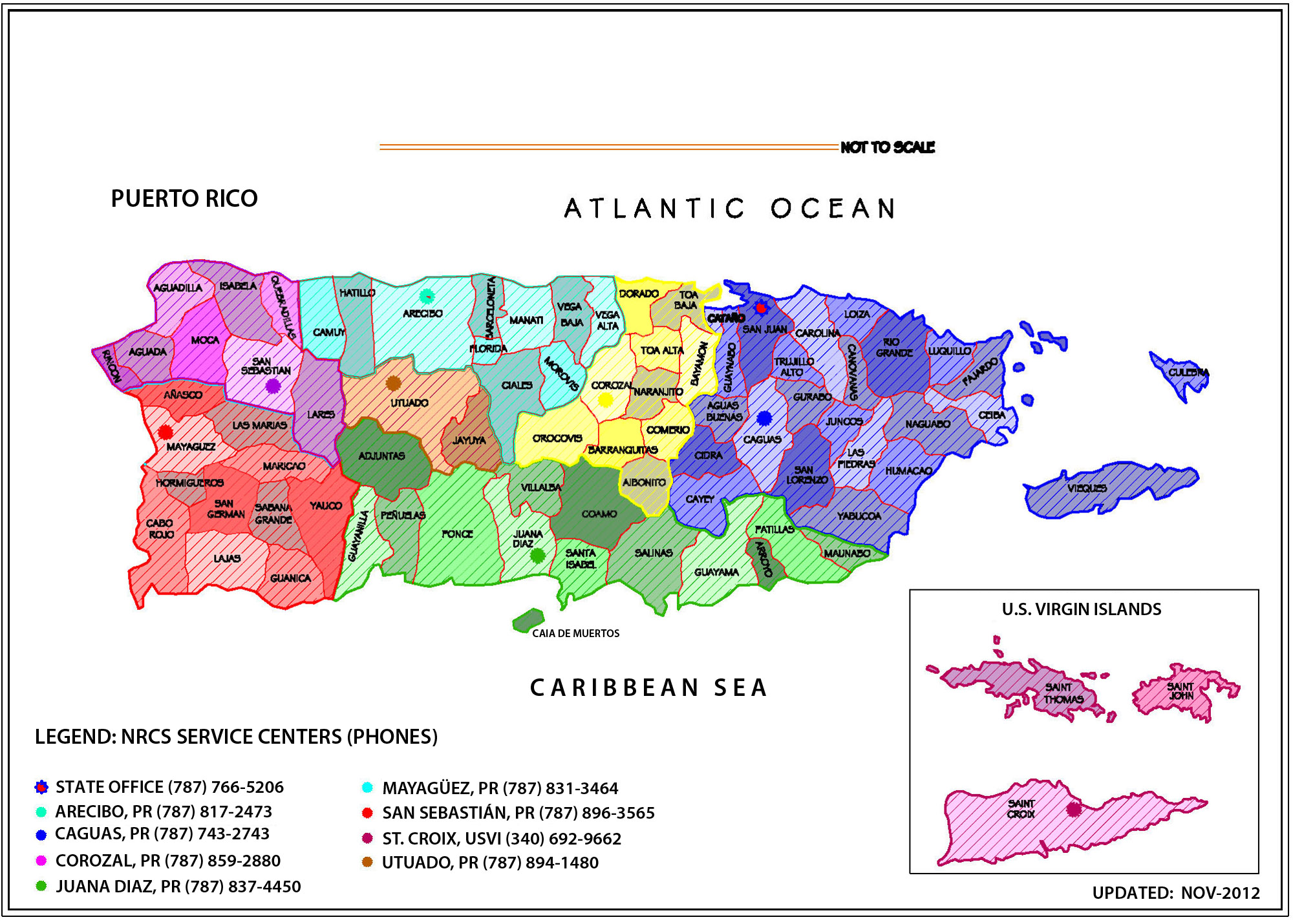Contact Us NRCS Caribbean Area - Map of puerto rico caribbean islands