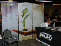 Oklahoma RC&D booth at OACD meeting