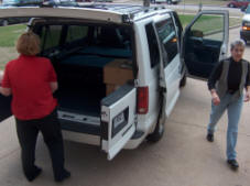 Representatives from the schools requesting the computer drove to USDA field offices in counties across Oklahoma to pick up the donated computers.