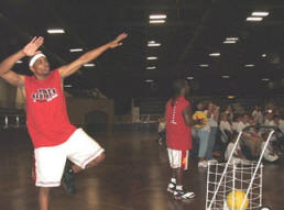 Team AcroDunk performing at the Youth Summit.