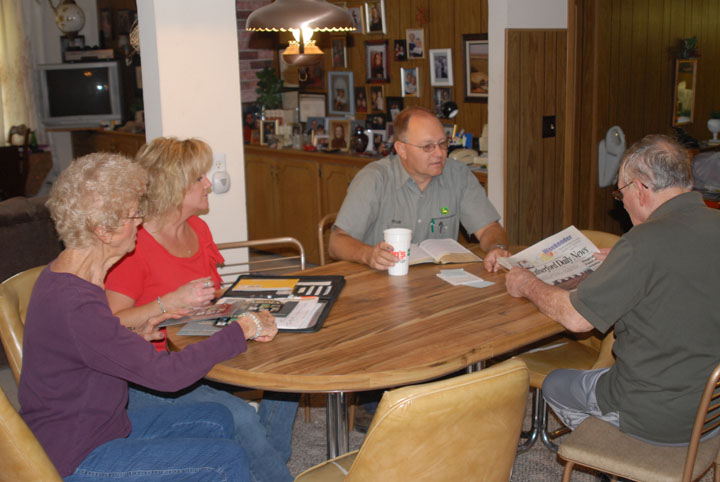 Bryan and Reonna involve Ella and Harold as much as possible regarding plans for the farm and other business matters.