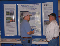 NRCS Oklahoma Grazing Land Specialist Steve Glasgow visits with a producer