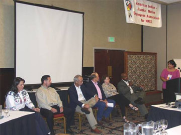 A panel consisting of state conservationists answers questions and listen to state SEPMs stories during the training.