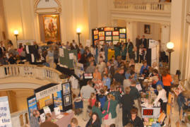 Several hundred people came to the State Capitol to tour the exhibits on display for Ag Day.