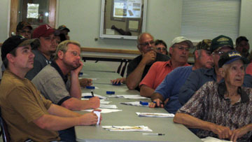 Landownersfrom LeFlore, Haskell and Latimer County and Talihina counties attended the meeting for poultry producers and small businesses recently held in Poteau.