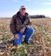 Pete Hobson, who farms in eastern Pottawattamie County, mentors several producers in his neighborhood about cover crops.