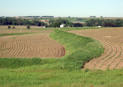 Mahaska County farmers are signing up to install terraces on their land at a record pace. Terraces reduce the rate of runoff and allow soil particles to settle out, resulting in cleaner water