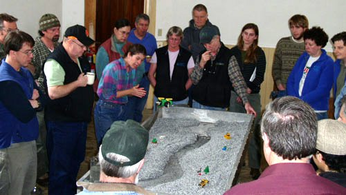 Staci Pomeroy explains river processes with the flume