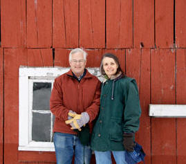 Charlie and Jean Siegchrist of Jericho recently sold 148 acres into a conservation easement