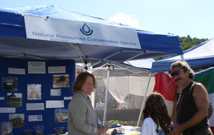 Caroline Alves, NRCS Soil Scientist, attends SolarFest