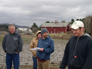 Ben Gabos (in the white hat) explains conservation practices