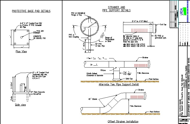 Standard Dry Hydrant Cadd Drawings Nrcs South Carolina