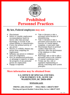 Prohibited Personnel Practices poster.  PDF download.
