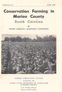 Marion, SC, 1948: Conservation Farming in Marion County publication.