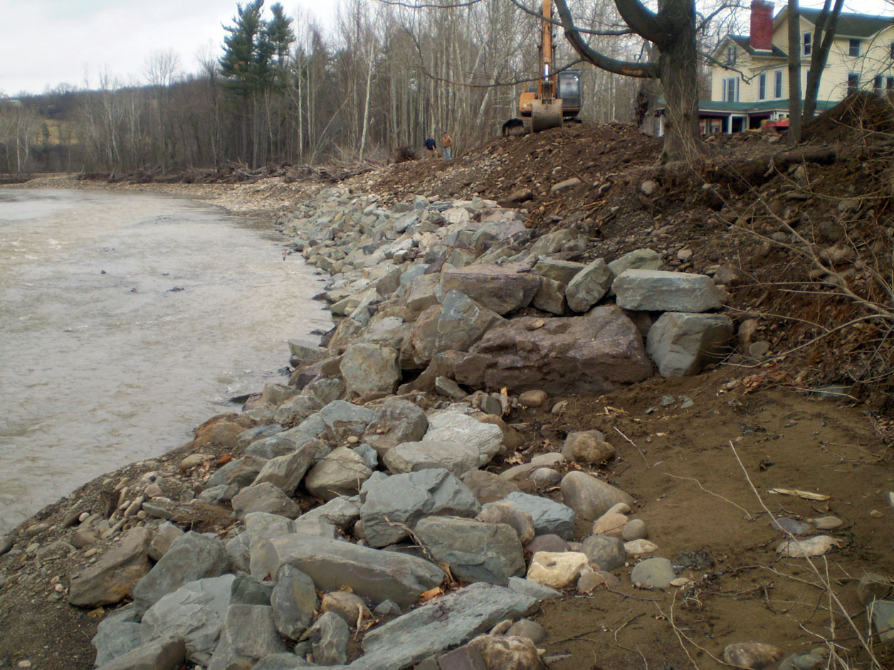 Bradford County - Completion of a 290 foot riprap for protection from future storms