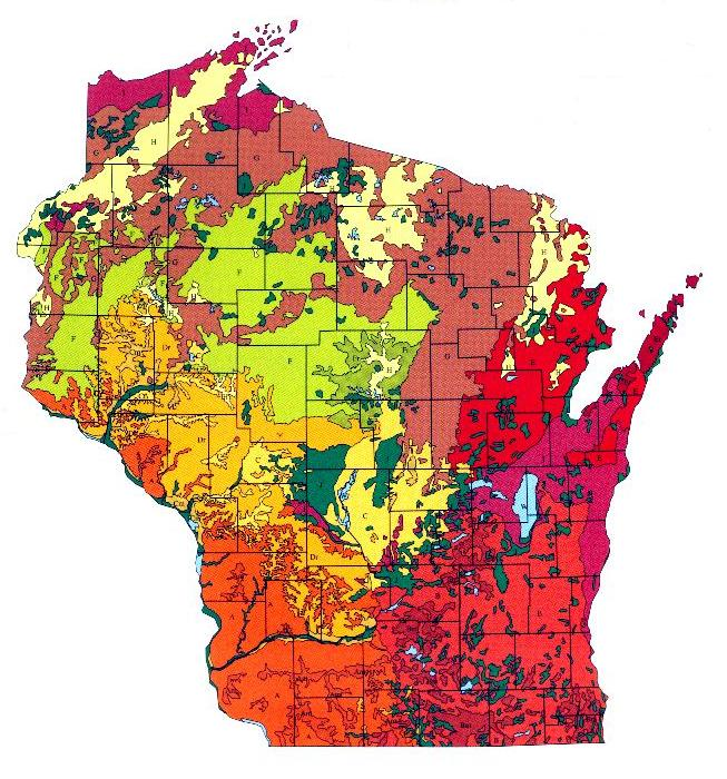 Wisconsin General Soils Map