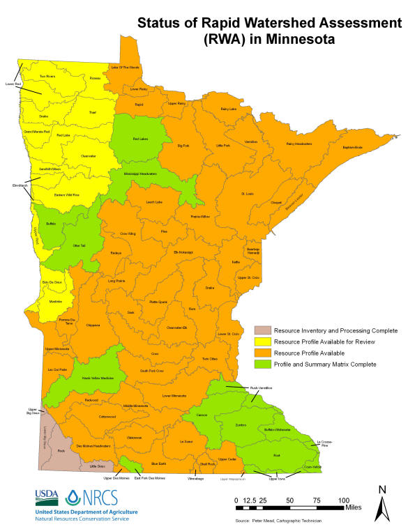 MN Rapid Watershed Assessment Status Map