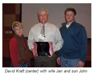 David Kraft with wife Jan and son John