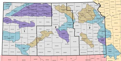 Kansas Map of Rapid Watershed Assessment Watersheds