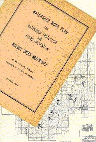Photo of watershed work plan and map