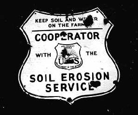 Photo of Soil Erosion Service sign