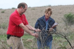 Helen Goebel with John Drew, NRCS District Conservationist
