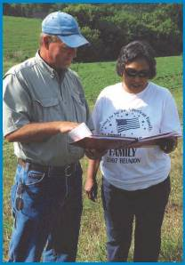 NRCS Planner working with land owner