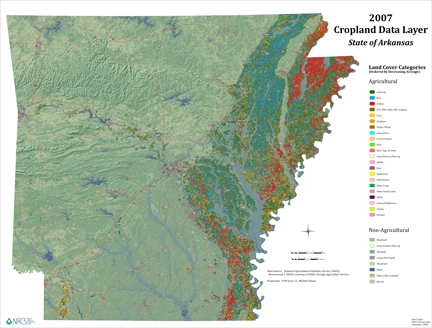 2007 Cropland Data Layer - State of Arkansas