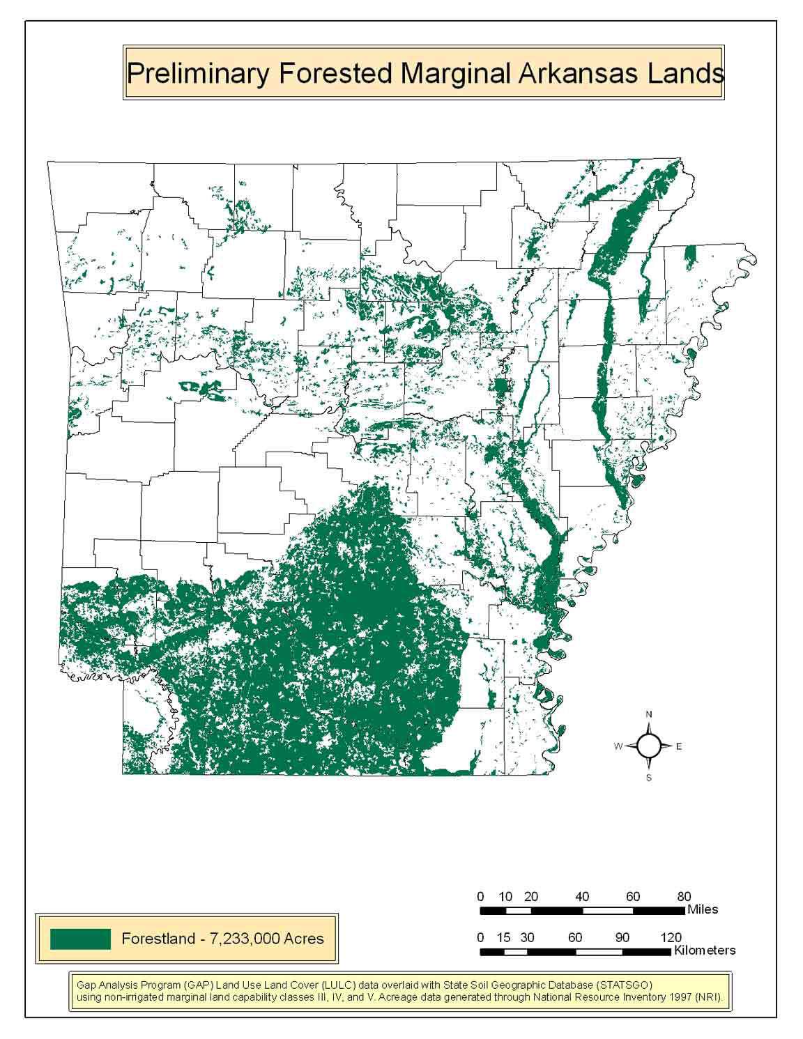 Preliminary Forested Marginal Arkansas Lands