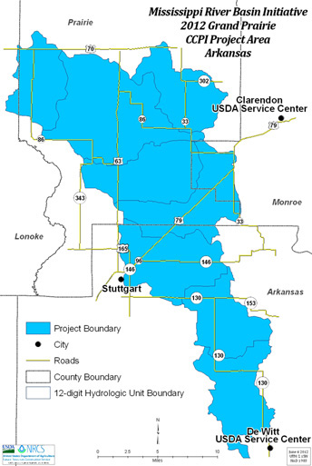 2012 MRBI CCPI Grand Prairie Project Area Map