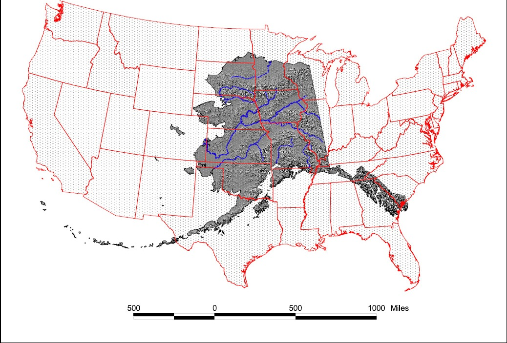 Alaskalower Map NRCS Alaska - Alaska over the us map