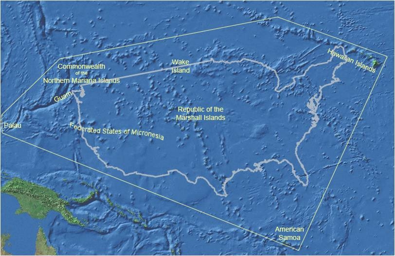 Contact Us NRCS Pacific Islands Area - Us pacific islands map