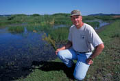 Grass seed grower and wildlife enthusiast Mark Knaupp enjoys the wildlife returning to his nearly 400 acre restored wetland