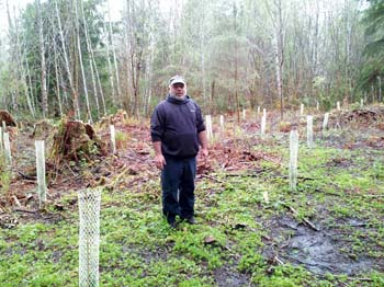 Forest Land Owner Mike Sasso planted trees through the EQIP Program