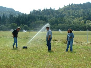 Irrigation system improvements benefit land managers and the watershed by improving the efficiency of application, minimizing runoff and maximizing the benefit to the crop