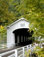 covered bridge in the McKenzie Watershed