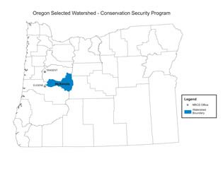Oregon 2008 Selected Watershed - CSP