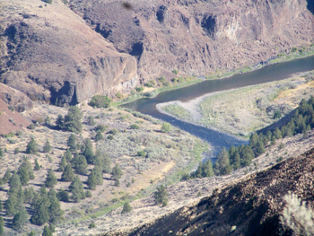Looking into the John Day River