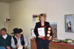Renece Forsea, Group Leader accepts award for Group Volunteer Award for the Richalnd Wildflower Project