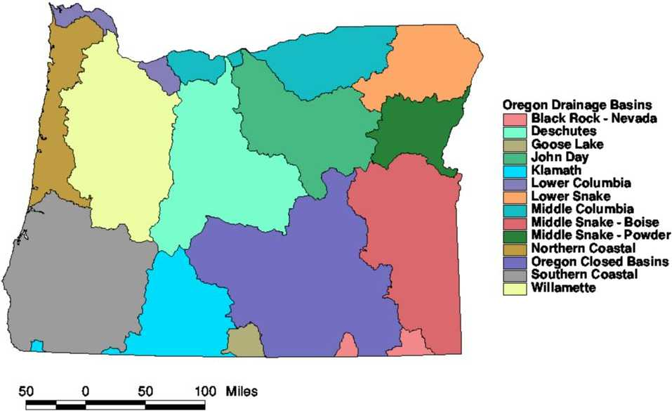 Oregon Drainage Basins